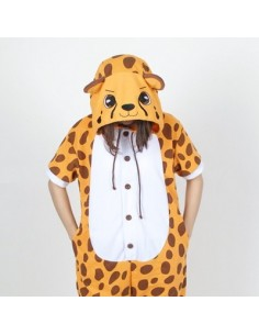 [PJB158] Animal Shorts Sleeve Pajamas - Cheetah