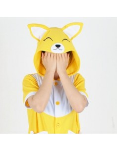 [PJB164] Animal Shorts Sleeve Pajamas - Pretty Fox