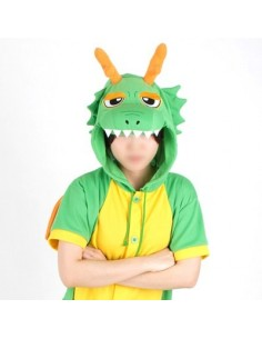[PJB161] Animal Shorts Sleeve Pajamas - Green Dragon