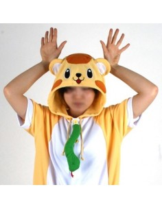 [PJB169] Animal Shorts Sleeve Pajamas - Orange Monkey