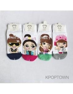 2NE1 4 Pairs of Character Socks PK Version 2
