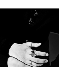 [EX194] EXO Style Silver Star Ring