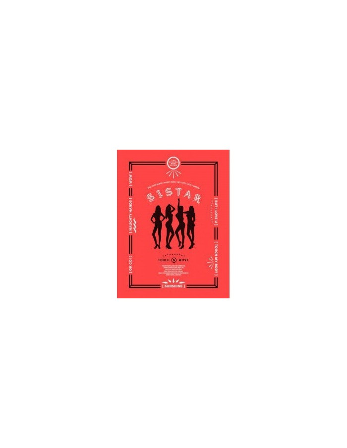 Sistar 2nd Mini Album - Touch & Move CD + Poster+ Photocard