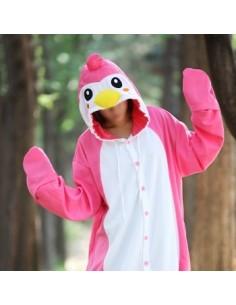 [PJA104] Animal Pajamas - PINK PENGUIN Ver.2