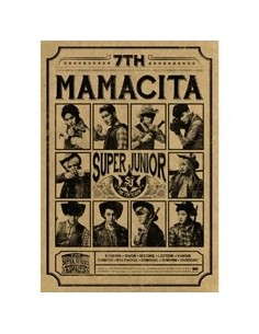 Super Junior 7th Album - MAMACITA B Version CD + Poster