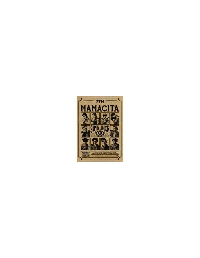 Super Junior 7th Album - MAMACITA B Version CD + Poster