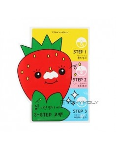 [TONYMOLY] Strawberry Blackhead 3 Step Nose Pack