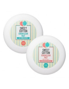 [Holika Holika] Sweet Cotton Sebum Clear Pact 10g