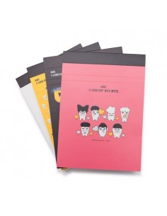 [ BTS Official Goods ] HIPHOP MONSTER : Pad Note-M ( 4Colors )