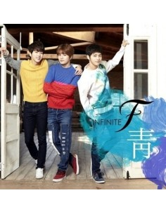 INFINITE F 1st Single Album - 靑 CD + 2 Random Photocard + Poster