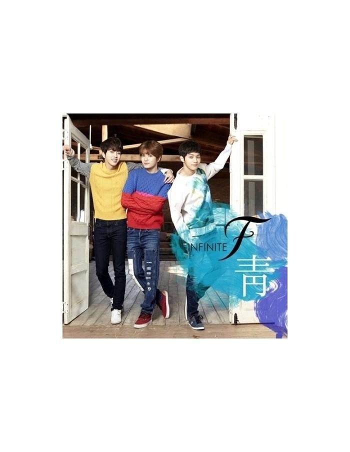 INFINITE F 1st Single Album - 靑 CD + 2 Random Photocard + Poster