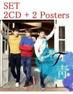 [SET] INFINITE F 1st Single Album - 靑 2 CD +  2 Posters