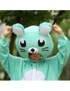 [PJA119] Animal Head Mask - Mint Mouse