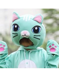 [PJA120] Animal Head Mask - Mint Cat