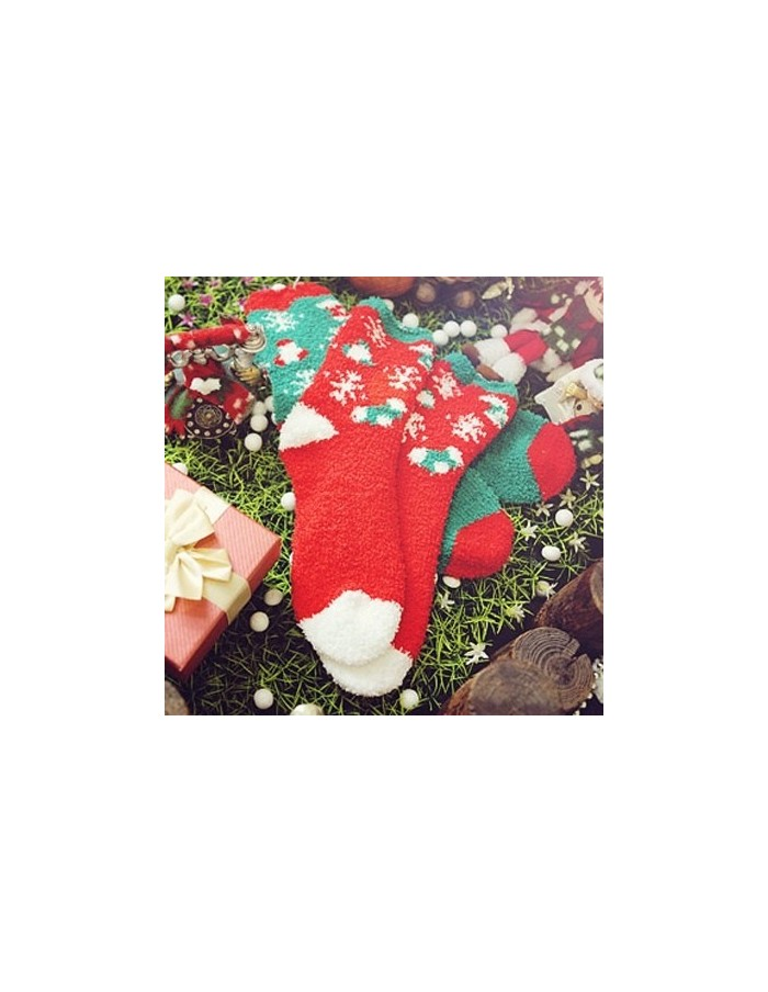 Jinglebell & Santa Sleeping Socks