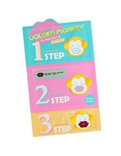 [Holika Holika] Golden Monkey Glamour Lip 3-step Kit