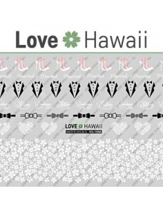 [ Nail Sticker ] Love Hawaii - Water Decal Art Sticker Ver 59