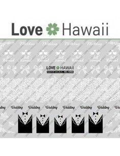 [ Nail Sticker ] Love Hawaii - Water Decal Art Sticker Ver 60
