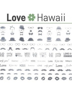 [ Nail Sticker ] Love Hawaii - Water Decal Art Sticker Ver 66