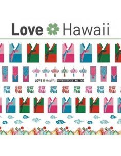 [ Nail Sticker ] Love Hawaii - Water Decal Art Sticker Ver 67