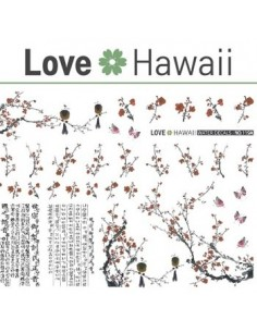 [ Nail Sticker ] Love Hawaii - Water Decal Art Sticker Ver 69