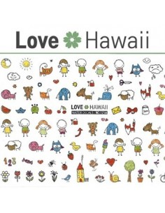 [ Nail Sticker ] Love Hawaii - Water Decal Art Sticker Ver 71