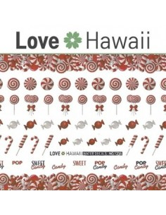 [ Nail Sticker ] Love Hawaii - Water Decal Art Sticker Ver 73