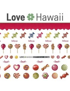 [ Nail Sticker ] Love Hawaii - Water Decal Art Sticker Ver 74