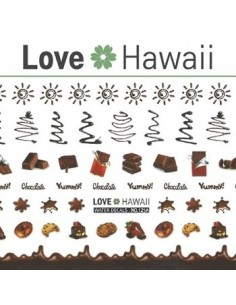 [ Nail Sticker ] Love Hawaii - Water Decal Art Sticker Ver 75