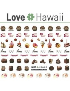 [ Nail Sticker ] Love Hawaii - Water Decal Art Sticker Ver 76