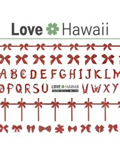 [ Nail Sticker ] Love Hawaii - Water Decal Art Sticker Ver 77