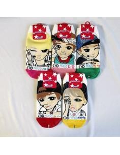 EXO-K 5 Pair of Character Socks SET Ver. 4
