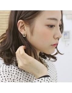 [AS11] Slim Button Earring