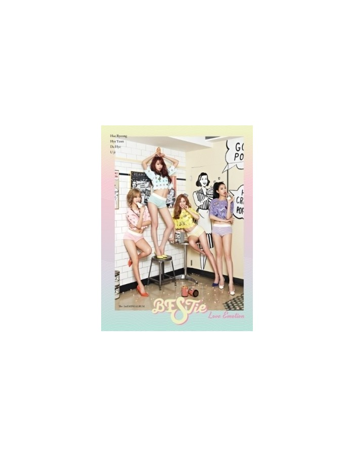 BESTie 2nd Mini Album - Love Emotion CD + Poter