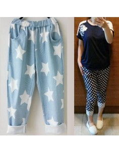 [LP14] Star / Dot / Baggy Banding Pants
