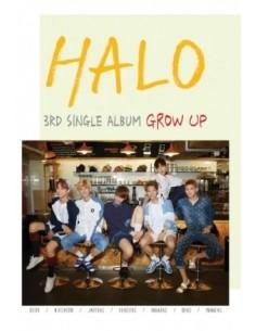 HALO 3rd Single Album - GROW UP CD + Poster