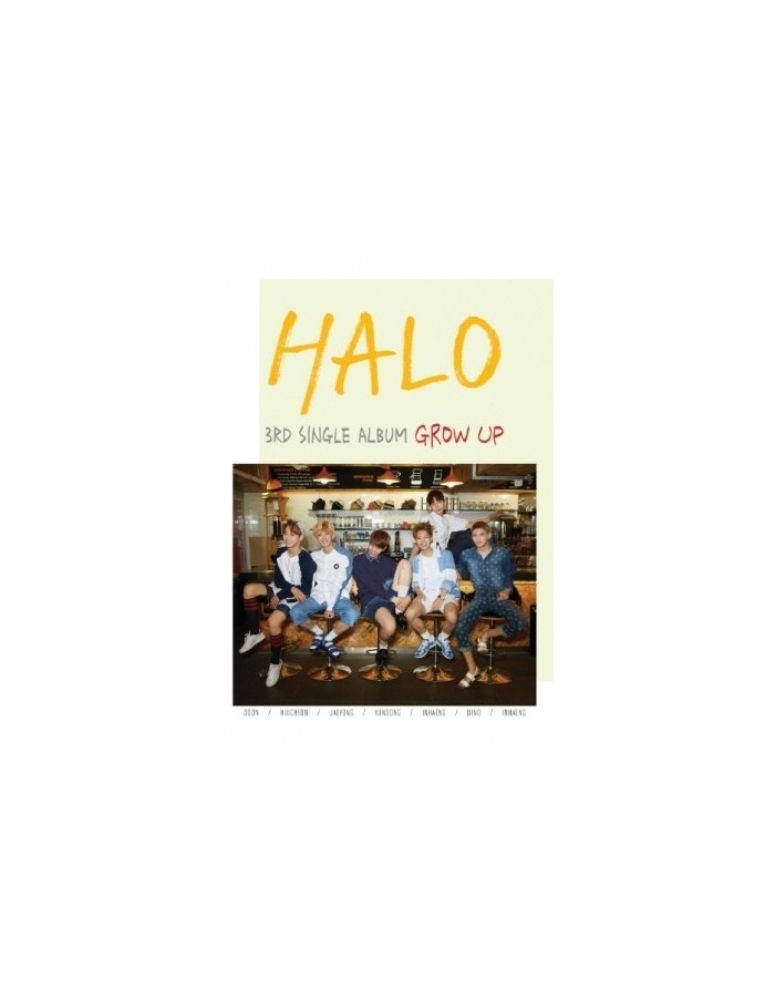 HALO 3rd Single Album - GROW UP CD + Poster