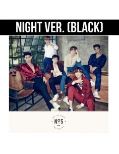 2PM Fitth Album - No.5 CD + Poster : NIGHT Version (Black)