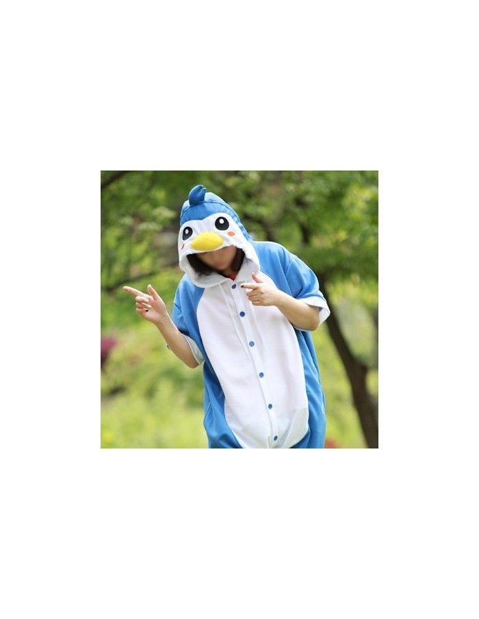 [PJA127] Animal Short Sleeve Pajamas - Cool Penguin