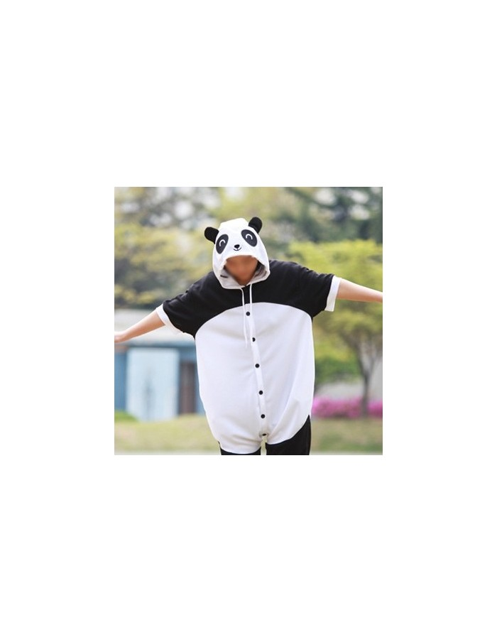 [PJA138] Animal Short Sleeve Pajamas -  Cutie Panda