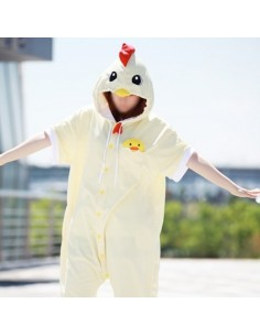 [PJA140] Animal Short Sleeve Pajamas - Chicken