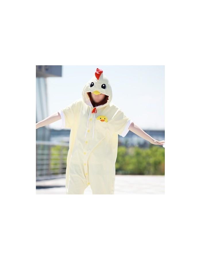 [PJA140] Animal Short Sleeve Pajamas - Chicken