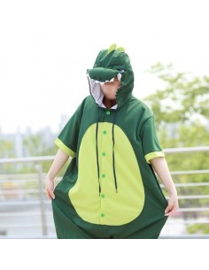 [PJA149] Animal Short Sleeve Pajamas - Dinosaur