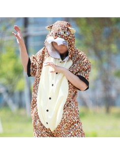 [PJA150] Animal Short Sleeve Pajamas - Leopard