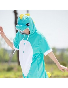 [PJA151] Animal Short Sleeve Pajamas - Sky Dinosaur