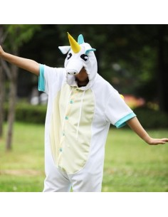 [PJA157] Animal Short Sleeve Pajamas - Mint Unicorn