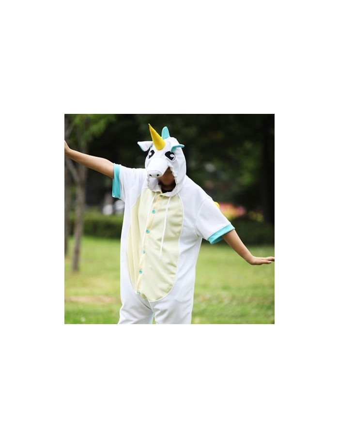 [PJA157] Animal Short Sleeve Pajamas - Mint Unicorn