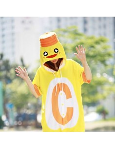 [PJA161] Animal Short Sleeve Pajamas - Vitamin C Drink