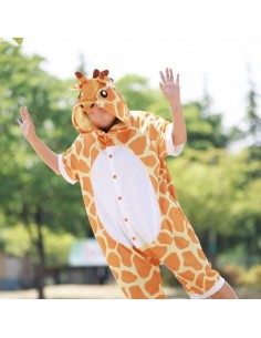 [PJA164] Animal Short Sleeve Pajamas - Giraffe