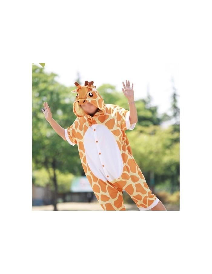 [PJA164] Animal Short Sleeve Pajamas - Giraffe